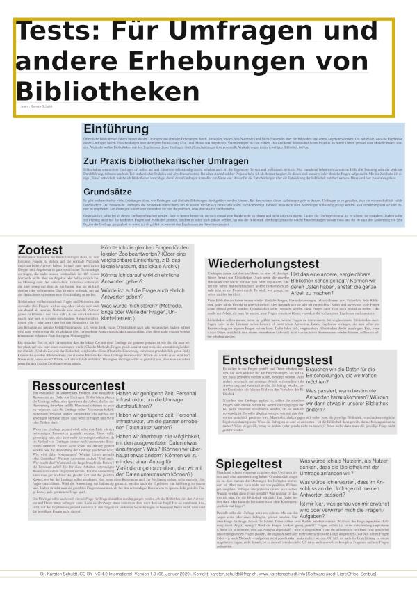 """Symbobild für das Poster """"Tests für Umfragen und andere Erhebungen von Bibliotheken"""""""